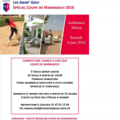 Samedi 04 Juin COUPE DE MARRAKECH